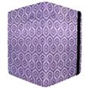 HEXAGON1 WHITE MARBLE & PURPLE DENIM (R) Apple iPad Mini Flip Case View4