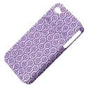 HEXAGON1 WHITE MARBLE & PURPLE DENIM (R) Apple iPhone 4/4S Hardshell Case (PC+Silicone) View4