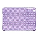 HEXAGON1 WHITE MARBLE & PURPLE DENIM (R) Apple iPad Mini Hardshell Case (Compatible with Smart Cover) View1