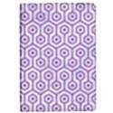HEXAGON1 WHITE MARBLE & PURPLE DENIM (R) iPad Mini 2 Flip Cases View1