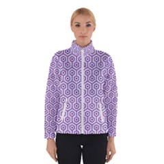 Hexagon1 White Marble & Purple Denim (r) Winterwear