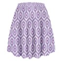 HEXAGON1 WHITE MARBLE & PURPLE DENIM (R) High Waist Skirt View2