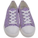 HEXAGON1 WHITE MARBLE & PURPLE DENIM (R) Women s Low Top Canvas Sneakers View1