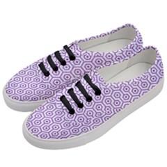 HEXAGON1 WHITE MARBLE & PURPLE DENIM (R) Women s Classic Low Top Sneakers