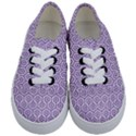 HEXAGON1 WHITE MARBLE & PURPLE DENIM (R) Kids  Classic Low Top Sneakers View1