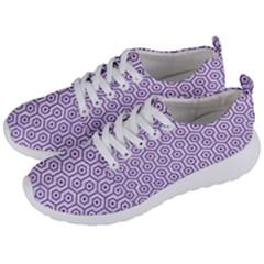 HEXAGON1 WHITE MARBLE & PURPLE DENIM (R) Men s Lightweight Sports Shoes