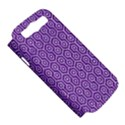 HEXAGON1 WHITE MARBLE & PURPLE DENIM Samsung Galaxy S III Hardshell Case (PC+Silicone) View5