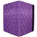 HEXAGON1 WHITE MARBLE & PURPLE DENIM Apple iPad 2 Flip Case View4
