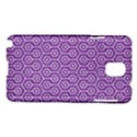 HEXAGON1 WHITE MARBLE & PURPLE DENIM Samsung Galaxy Note 3 N9005 Hardshell Case View1