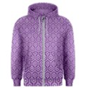 HEXAGON1 WHITE MARBLE & PURPLE DENIM Men s Zipper Hoodie View1