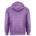 HEXAGON1 WHITE MARBLE & PURPLE DENIM Men s Zipper Hoodie View2
