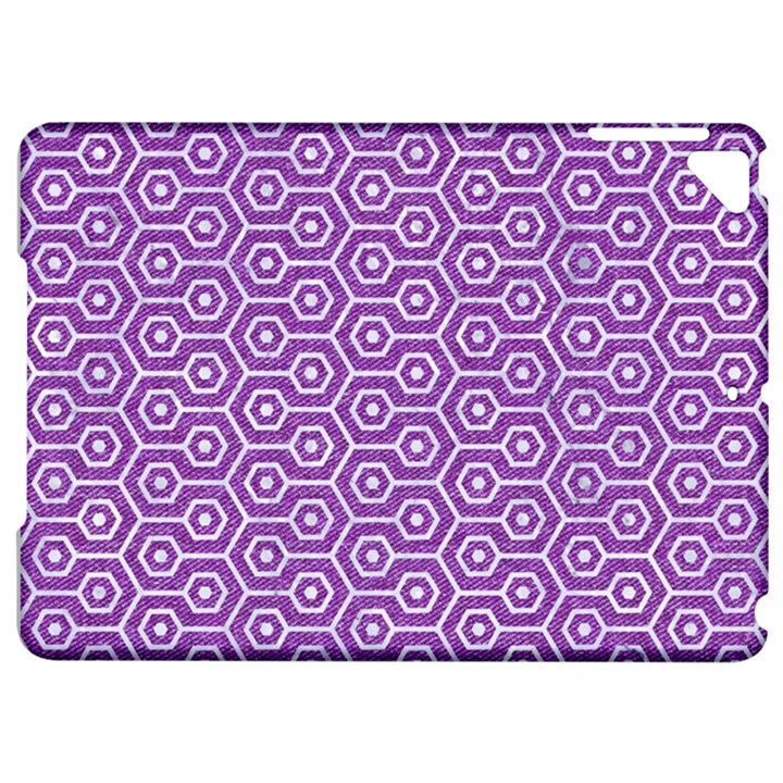 HEXAGON1 WHITE MARBLE & PURPLE DENIM Apple iPad Pro 9.7   Hardshell Case
