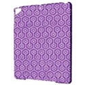 HEXAGON1 WHITE MARBLE & PURPLE DENIM Apple iPad Pro 9.7   Hardshell Case View3