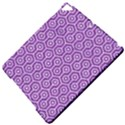 HEXAGON1 WHITE MARBLE & PURPLE DENIM Apple iPad Pro 9.7   Hardshell Case View5