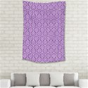 HEXAGON1 WHITE MARBLE & PURPLE DENIM Small Tapestry View2