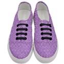 HEXAGON1 WHITE MARBLE & PURPLE DENIM Women s Classic Low Top Sneakers View1