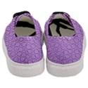 HEXAGON1 WHITE MARBLE & PURPLE DENIM Women s Classic Low Top Sneakers View4