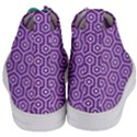 HEXAGON1 WHITE MARBLE & PURPLE DENIM Women s Mid-Top Canvas Sneakers View4