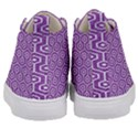 HEXAGON1 WHITE MARBLE & PURPLE DENIM Kid s Mid-Top Canvas Sneakers View4