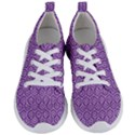 HEXAGON1 WHITE MARBLE & PURPLE DENIM Women s Lightweight Sports Shoes View1