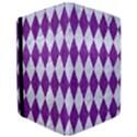 DIAMOND1 WHITE MARBLE & PURPLE DENIM iPad Air 2 Flip View3