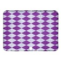DIAMOND1 WHITE MARBLE & PURPLE DENIM Samsung Galaxy Tab 4 (10.1 ) Hardshell Case  View1