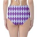DIAMOND1 WHITE MARBLE & PURPLE DENIM High-Waist Bikini Bottoms View2