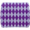 DIAMOND1 WHITE MARBLE & PURPLE DENIM Back Support Cushion View1
