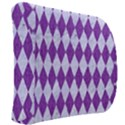 DIAMOND1 WHITE MARBLE & PURPLE DENIM Back Support Cushion View2