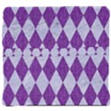 DIAMOND1 WHITE MARBLE & PURPLE DENIM Back Support Cushion View4