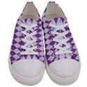 DIAMOND1 WHITE MARBLE & PURPLE DENIM Women s Low Top Canvas Sneakers View1