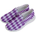 DIAMOND1 WHITE MARBLE & PURPLE DENIM Men s Lightweight Slip Ons View2
