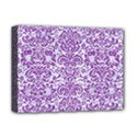 DAMASK2 WHITE MARBLE & PURPLE DENIM (R) Deluxe Canvas 16  x 12   View1