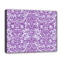 DAMASK2 WHITE MARBLE & PURPLE DENIM (R) Deluxe Canvas 20  x 16   View1