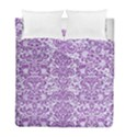 DAMASK2 WHITE MARBLE & PURPLE DENIM (R) Duvet Cover Double Side (Full/ Double Size) View1