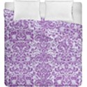DAMASK2 WHITE MARBLE & PURPLE DENIM (R) Duvet Cover Double Side (King Size) View1