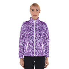 Damask2 White Marble & Purple Denim (r) Winterwear