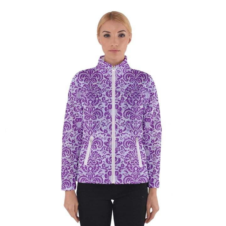 DAMASK2 WHITE MARBLE & PURPLE DENIM (R) Winterwear