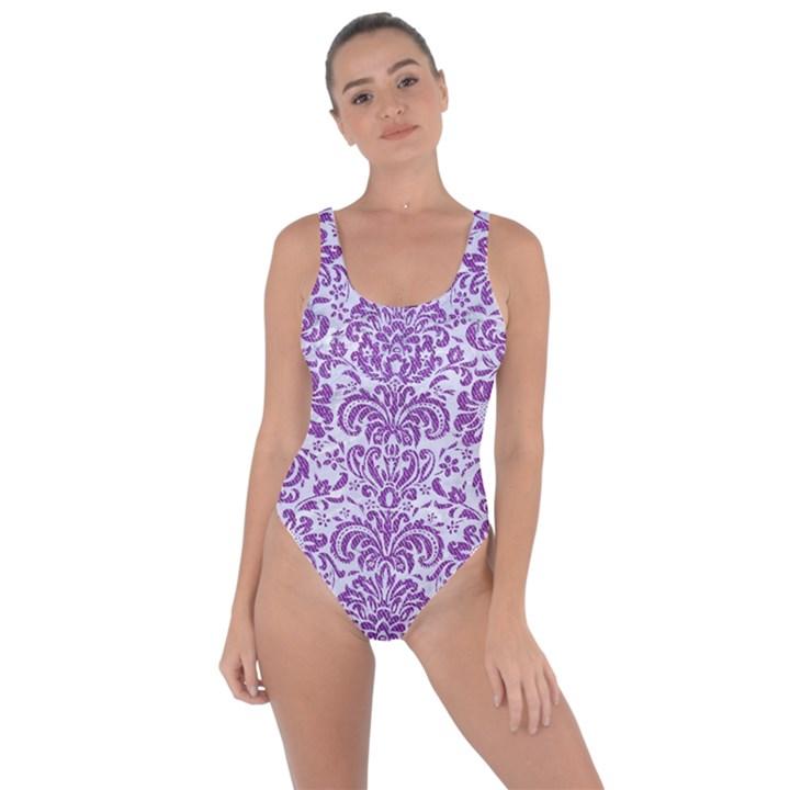 DAMASK2 WHITE MARBLE & PURPLE DENIM (R) Bring Sexy Back Swimsuit