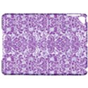 DAMASK2 WHITE MARBLE & PURPLE DENIM (R) Apple iPad Pro 9.7   Hardshell Case View1