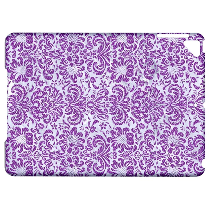DAMASK2 WHITE MARBLE & PURPLE DENIM (R) Apple iPad Pro 9.7   Hardshell Case