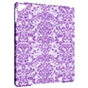 DAMASK2 WHITE MARBLE & PURPLE DENIM (R) Apple iPad Pro 9.7   Hardshell Case View2