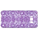 DAMASK2 WHITE MARBLE & PURPLE DENIM (R) Samsung Galaxy S8 Plus Hardshell Case  View1