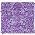 DAMASK2 WHITE MARBLE & PURPLE DENIM (R) Back Support Cushion View4