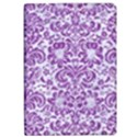 DAMASK2 WHITE MARBLE & PURPLE DENIM (R) Apple iPad Pro 10.5   Flip Case View1