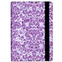 DAMASK2 WHITE MARBLE & PURPLE DENIM (R) Apple iPad Pro 10.5   Flip Case View2