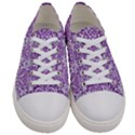 DAMASK2 WHITE MARBLE & PURPLE DENIM (R) Women s Low Top Canvas Sneakers View1