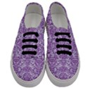 DAMASK2 WHITE MARBLE & PURPLE DENIM (R) Men s Classic Low Top Sneakers View1