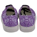 DAMASK2 WHITE MARBLE & PURPLE DENIM (R) Men s Classic Low Top Sneakers View4