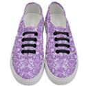 DAMASK2 WHITE MARBLE & PURPLE DENIM (R) Women s Classic Low Top Sneakers View1